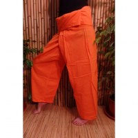 Pantalon de pêcheur Thaï orange vif