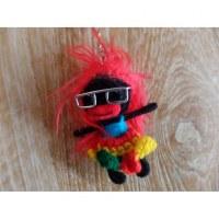 Porte clés Miss lunettes cheveux rouges