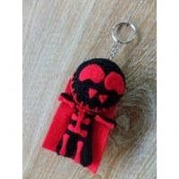 Porte-clés big skeletor noir/rouge