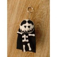 Porte-clés big skeletor noir/blanc