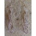 Boucles d'oreille pendantes en argent