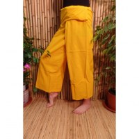 Pantalon de pêcheur Thaï citron