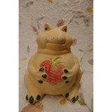 Tirelire grenouille à la fraise