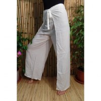 Pantalon paréo blanc