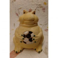 Tirelire grenouille au ballon de foot