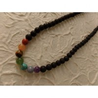 Mala perles 7 chakras pompon rainbow