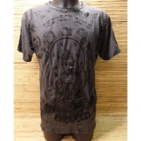 Tee shirt anthracite Bouddha respect
