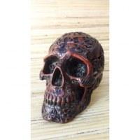 Cendrier marron crâne gravé amovible