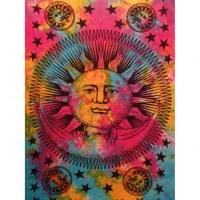 Tenture le soleil et la lune color