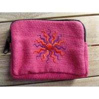 Porte monnaie rose soleil rouge/violet