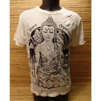 Tee shirt blanc Bouddha Thaï
