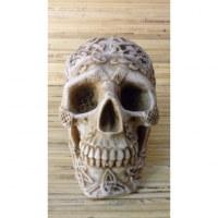 Cendrier blanc crâne gravé amovible