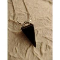 Pendule agate noire