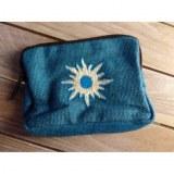 Porte monnaie bleu solar blanc