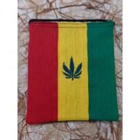 Sac passeport tricolore feuille brodée