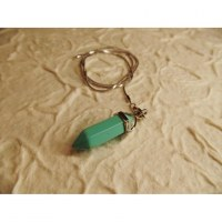 Pendule prisme turquoise