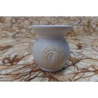 Brûle parfum blanc yin yang