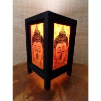Lampe orange Bouddha