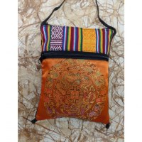 Sac passeport orange mandala