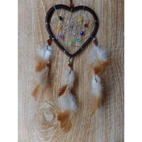 Dreamcatcher marron heart