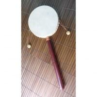 Tambourin à manche bois rouge