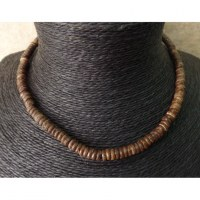 Collier surfeur marron