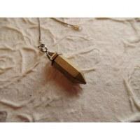 Pendule prisme hématite dorée