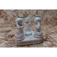 Brûleur à huile les 3 Bouddha de la sagesse