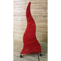 Lampe flamme rouge