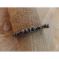 Bracelet tibétain 1 perles yin yang marron
