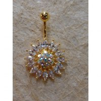 Piercing strass tournesol