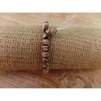 Bracelet tibétain 3 perles spirales
