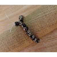 Bracelet tibétain 4 perles marron spirales