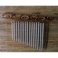 Carillon bambou pyrogravé
