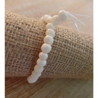 Bracelet tibétain 5 perles blanches