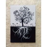 Aimant noir et blanc arbre de vie