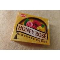 Cônes d'encens miel et rose