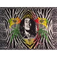 Mini tenture zébrée Bob Marley