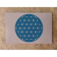 Aimant fleur de vie bleu clair