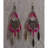 Pendants d'oreilles roses Lamai