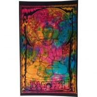 Mini tenture color Bouddha dharmacakra-mudrā
