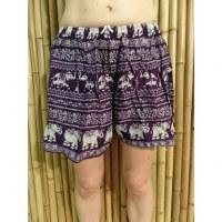 Short violet éléphant