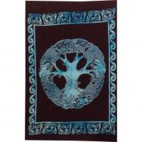 Tenture mini arbre de vie celte bleu