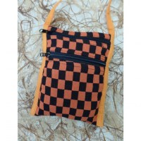 Sacoche damier orange