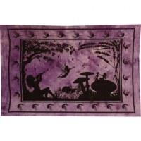 Mini tenture violet au pays merveilleux