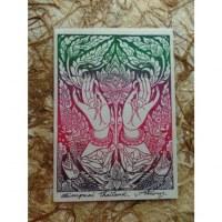 Carte les mains et le lotus