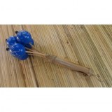Maracas bleues bambou
