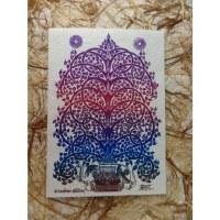 Carte éléphant arbre