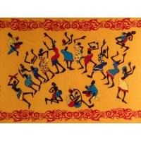 Tenture jaune africa dance