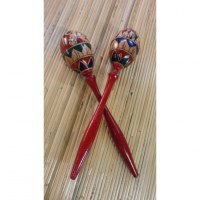 Duo de maracas long manche rouge